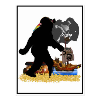 Gone Squatchin' Fer Buried Treasure Postcard