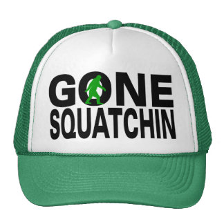 Gone Squatchin (green logo) Trucker Hat