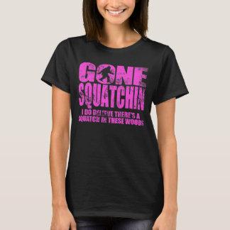 Gone Squatchin Hot Pink Distressed T-shirt