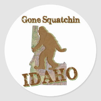 Gone Squatchin - Idaho Classic Round Sticker