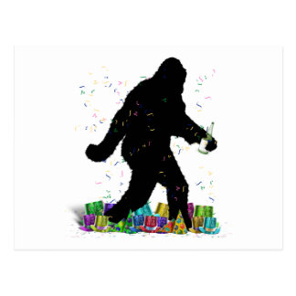 Gone Squatchin' In The New Year Postcard