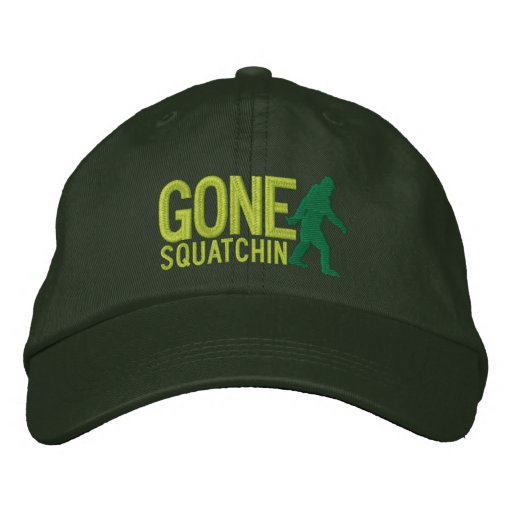 GONE SQUATCHIN LARGE embroidered cap Embroidered Baseball Cap