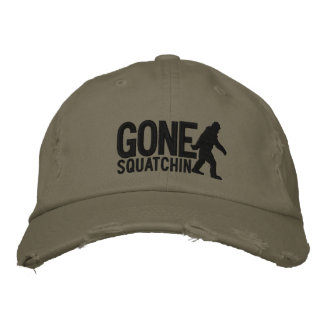 GONE SQUATCHIN LARGE embroidered cap Embroidered Hat
