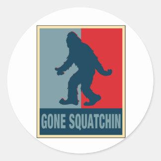 Gone Squatchin Obama Classic Round Sticker