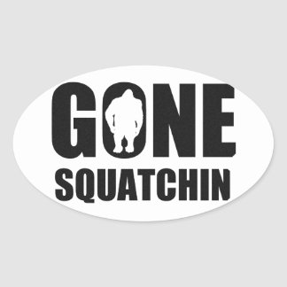 Gone Squatchin Oval Sticker