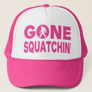 Gone Squatchin' Pink Trucker Hat