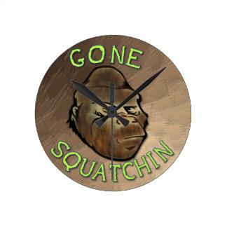 Gone Squatchin Round Clock