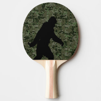 Gone Squatchin Silhouette on Digital Camouflage Ping-Pong Paddle
