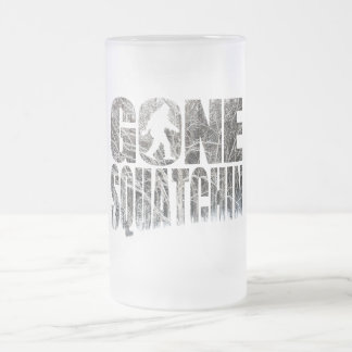 Gone Squatchin *Special Winter Edition* Frosted Glass Beer Mug