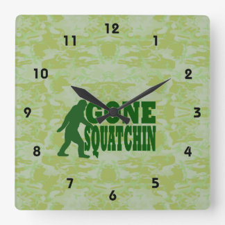 Gone Squatchin Square Wall Clock