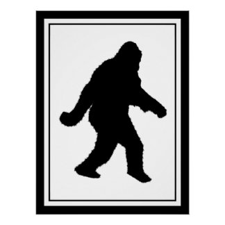 Gone Squatchin - Squatch Silhouette Perfect Poster