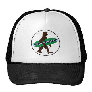 Gone Squatchin Surfing Bigfoot Mesh Hats