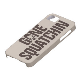 Gone Squatchin tan and brown iPhone 5 Cover