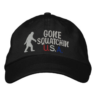 Gone Squatchin USA Embroidered Hat