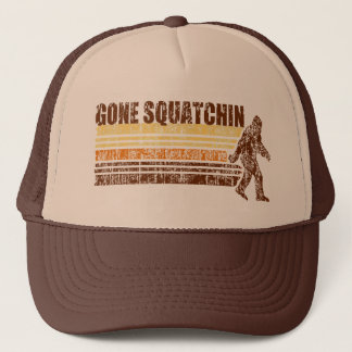 Gone Squatchin Vintage Distressed Retro Hat