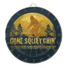 Gone Squatchin' (vintage sunset) Dartboard