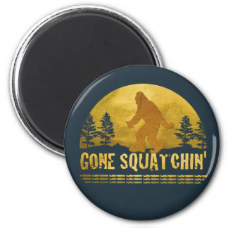 Gone Squatchin' (vintage sunset) Magnet
