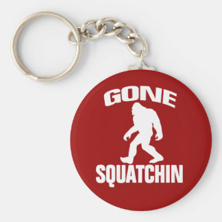 Gone Squatchin - White and Red Keychain
