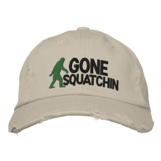 Gone Squatchin with  bigfoot logo Embroidered Hat