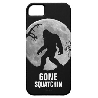 Gone Squatchin with moon and silhouette Case For The iPhone 5