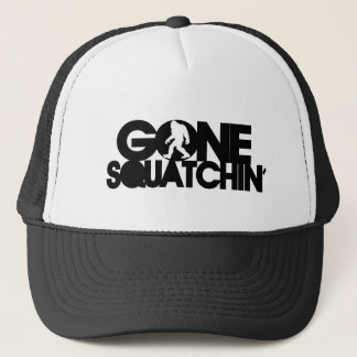 Gone Squatchin' with silhouette Trucker Hat