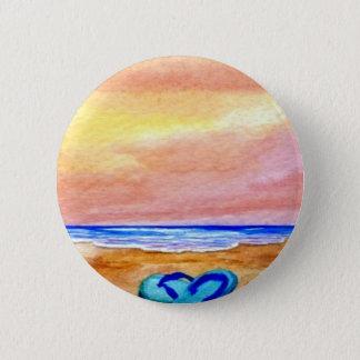 Gone Swimming Beach Baby - CricketDiane Ocean Art 2 Inch Round Button