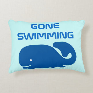 Gone Swimming Decorative Pillow