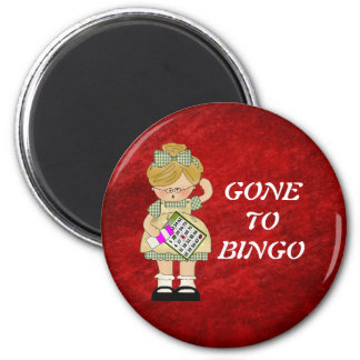 GONE TO BINGO magnet
