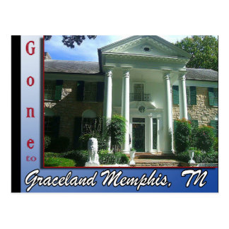Gone to Graceland Memphis, TN Postcard