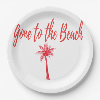 gone to the beach plates rea