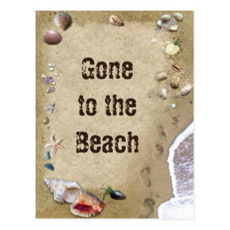 Gone to the Beach Postcard