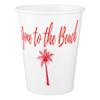 gone to the beach R Paper Cup