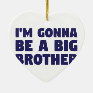 Gonna Be A Big Brother Ceramic Heart Ornament