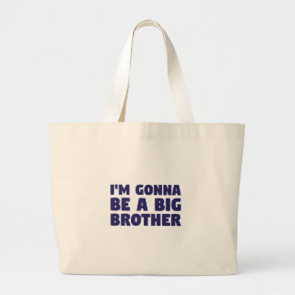 Gonna Be A Big Brother Large Tote Bag