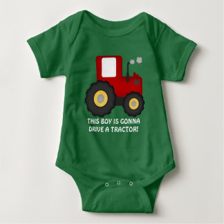 Gonna Drive a tractor baby Country bodysuit