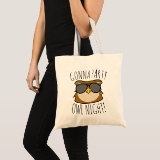 Gonna Party Owl Night Tote Bag