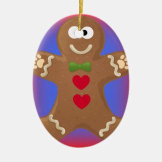 Goo Goo Eyes Gingerbread Man Ceramic Ornament