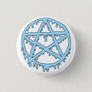 Goo Pentacle Pin - Blue
