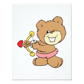 good aim winking cupid teddy bear design custom announcements