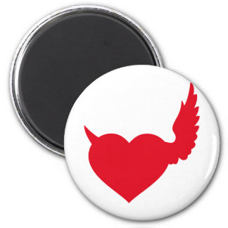 good and bad heart 2 inch round magnet