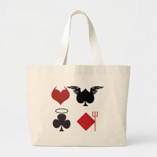 Good and Bad Large Tote Bag