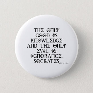 Good and Evil with Socrates 2 Inch Round Button
