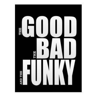 Good Bad Funky Movie Parody Postcard