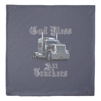 Good Bless all Truckers Duvet Cover