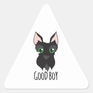 Good Boy Triangle Stickers