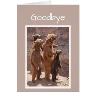 Good Bye and Good Luck from the Group of us Bears Card