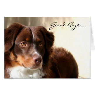 Good Bye Australian shepherd greeting card