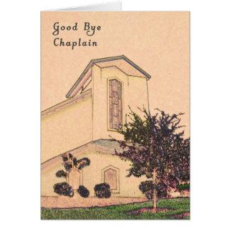 Good Bye Chaplain Card with Sepia Church