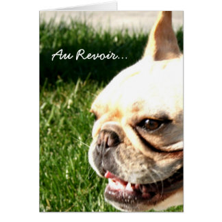 Good Bye French Bulldog Greeting Card