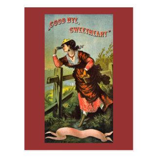 Good Bye, Sweetheart vintage circa 1860 Postcard